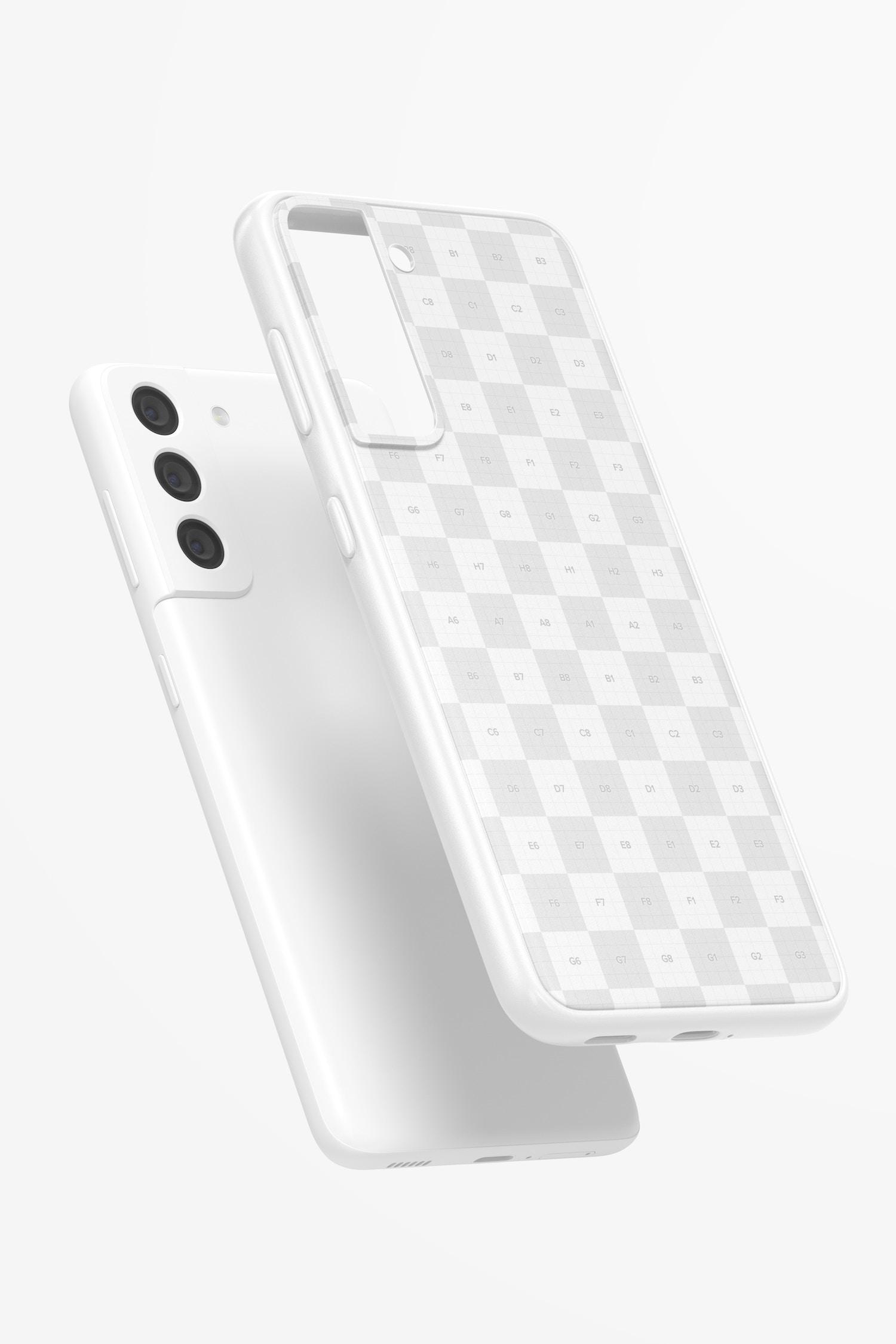 Samsung S21 Case Mockup, Floating