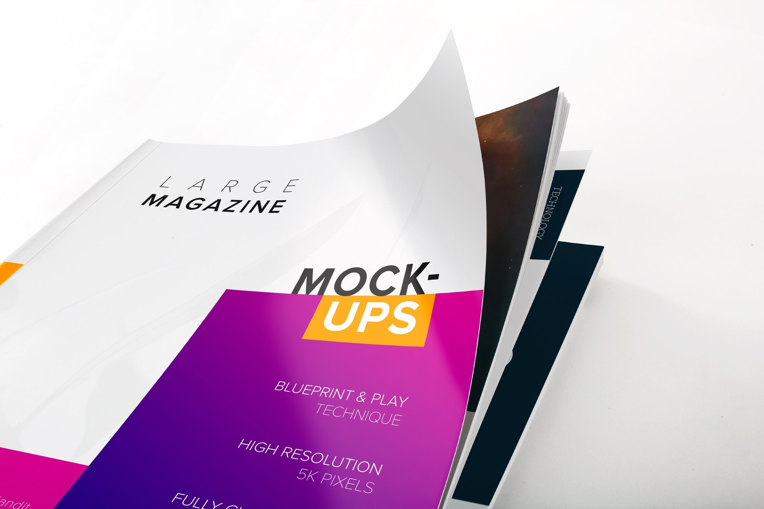 Large Magazine Cover Close Up View Mockup 01 by Original Mockups on Original Mockups