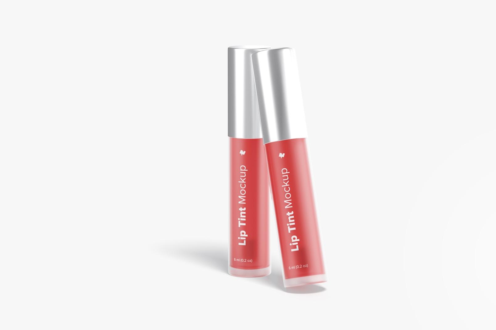 Lip Tint Tubes Mockup