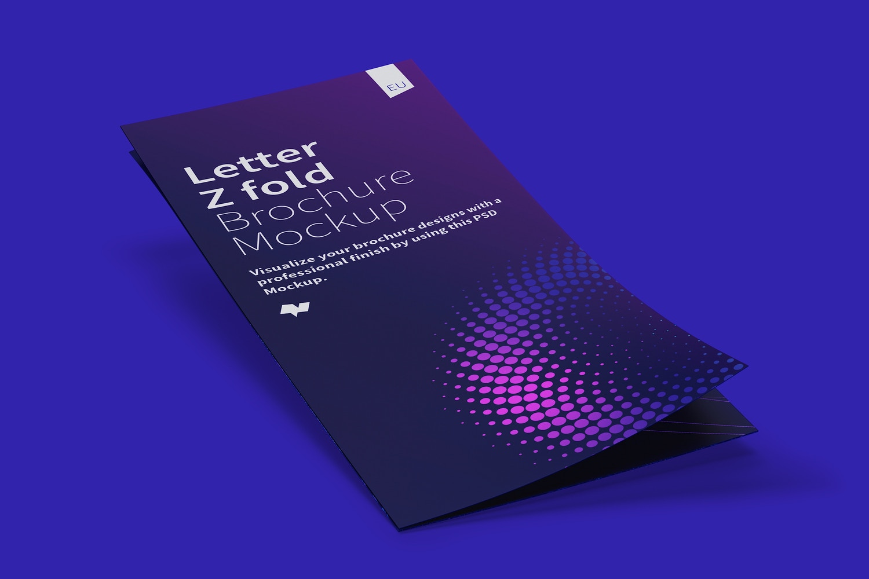 Letter Z Fold Brochure Mockup 01 (6) by Original Mockups on Original Mockups