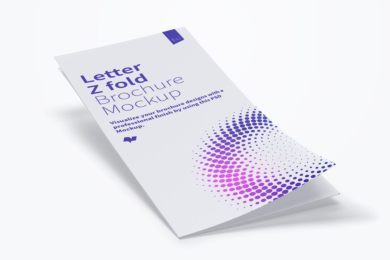 Letter Z Fold Brochure Mockup 01 (2) by Original Mockups on Original Mockups