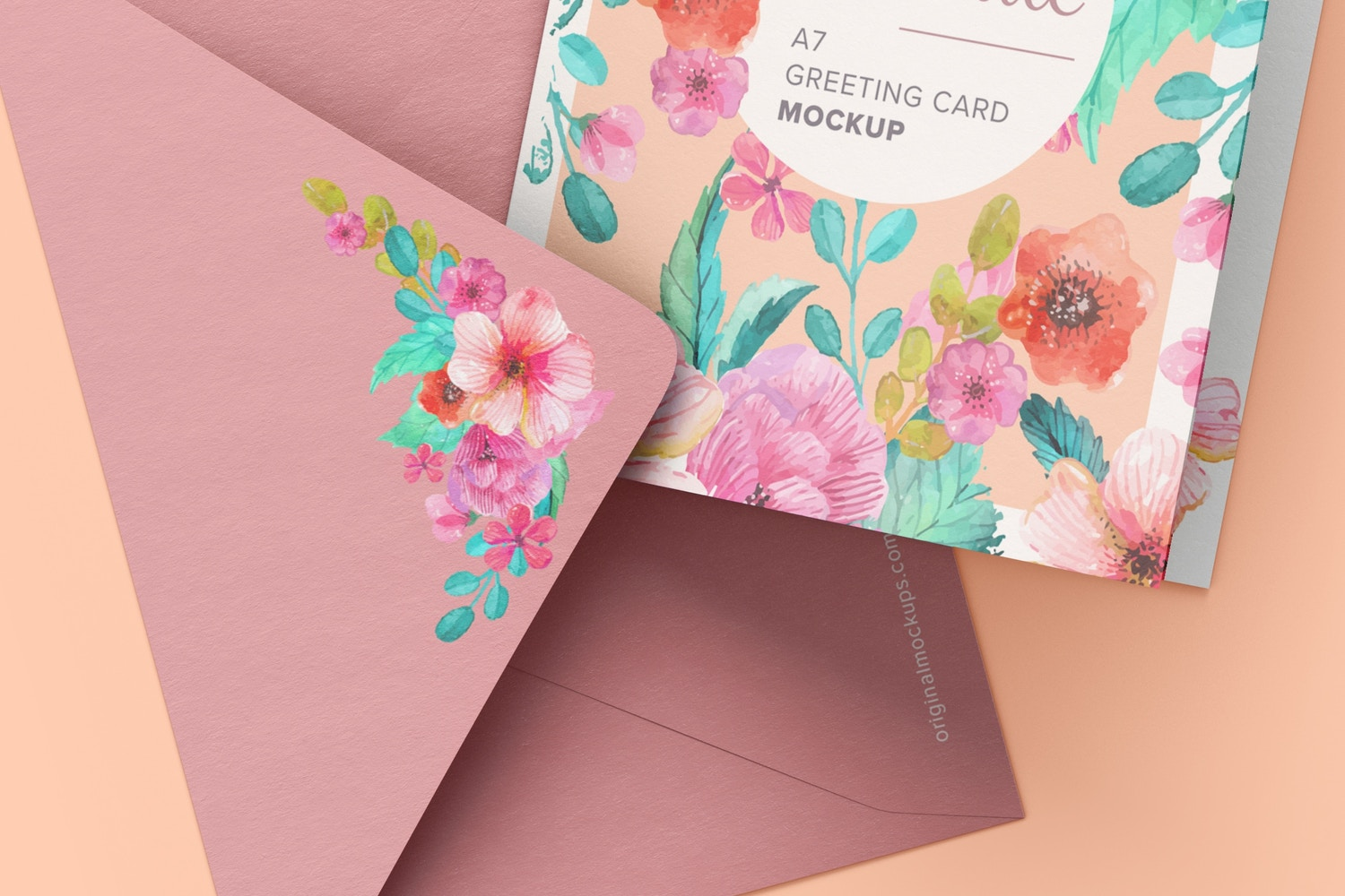 Watch the textured detail on the envelope. Get very realistic details with this mockup.