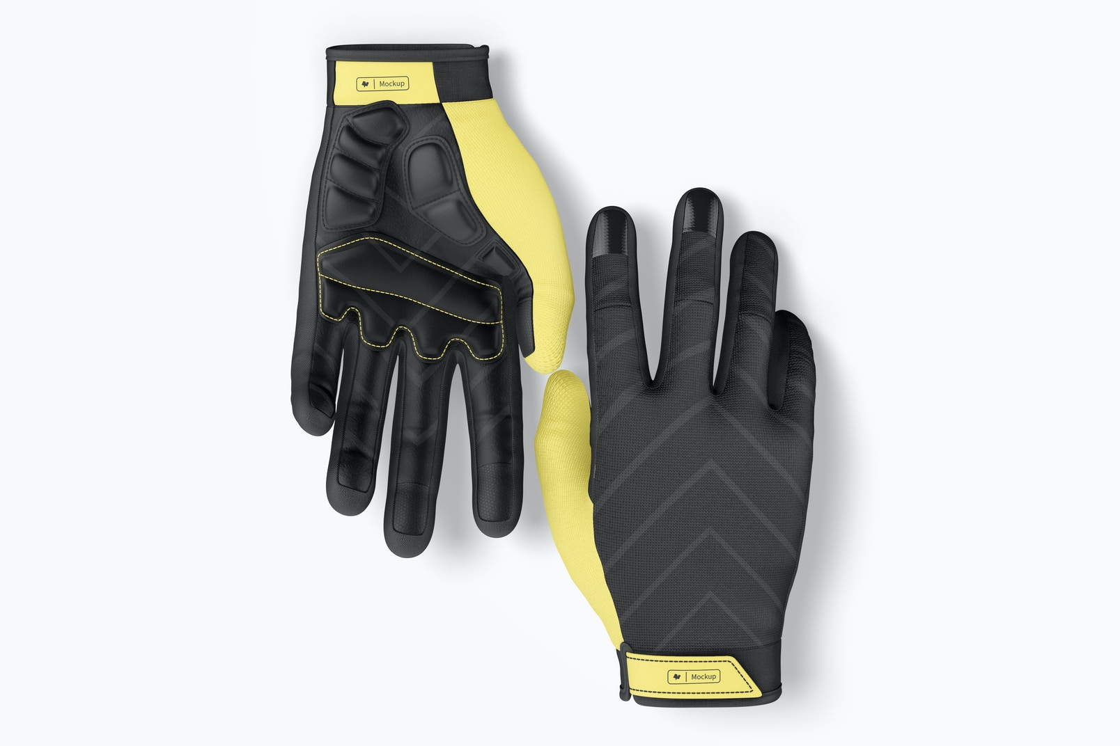 Cycling Gloves Mountain Mockup, Top View