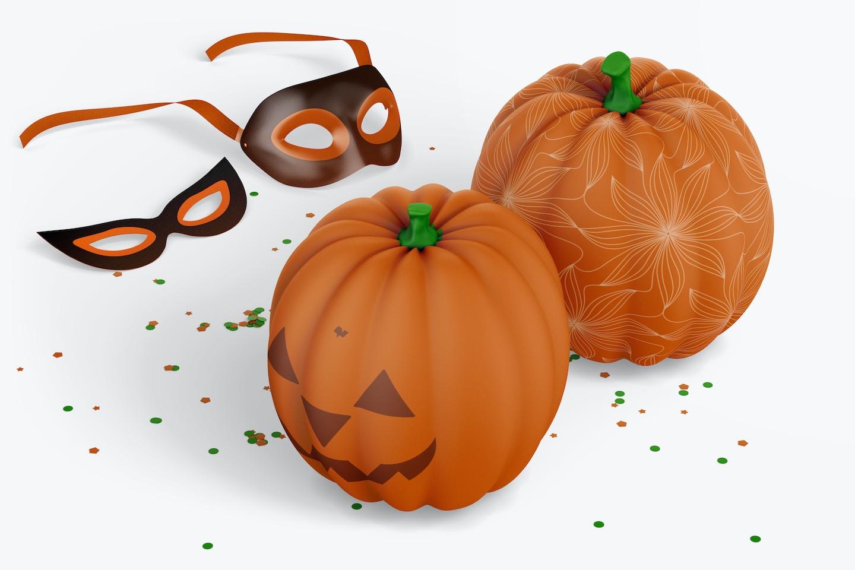 Decorative Pumpkins Mockup