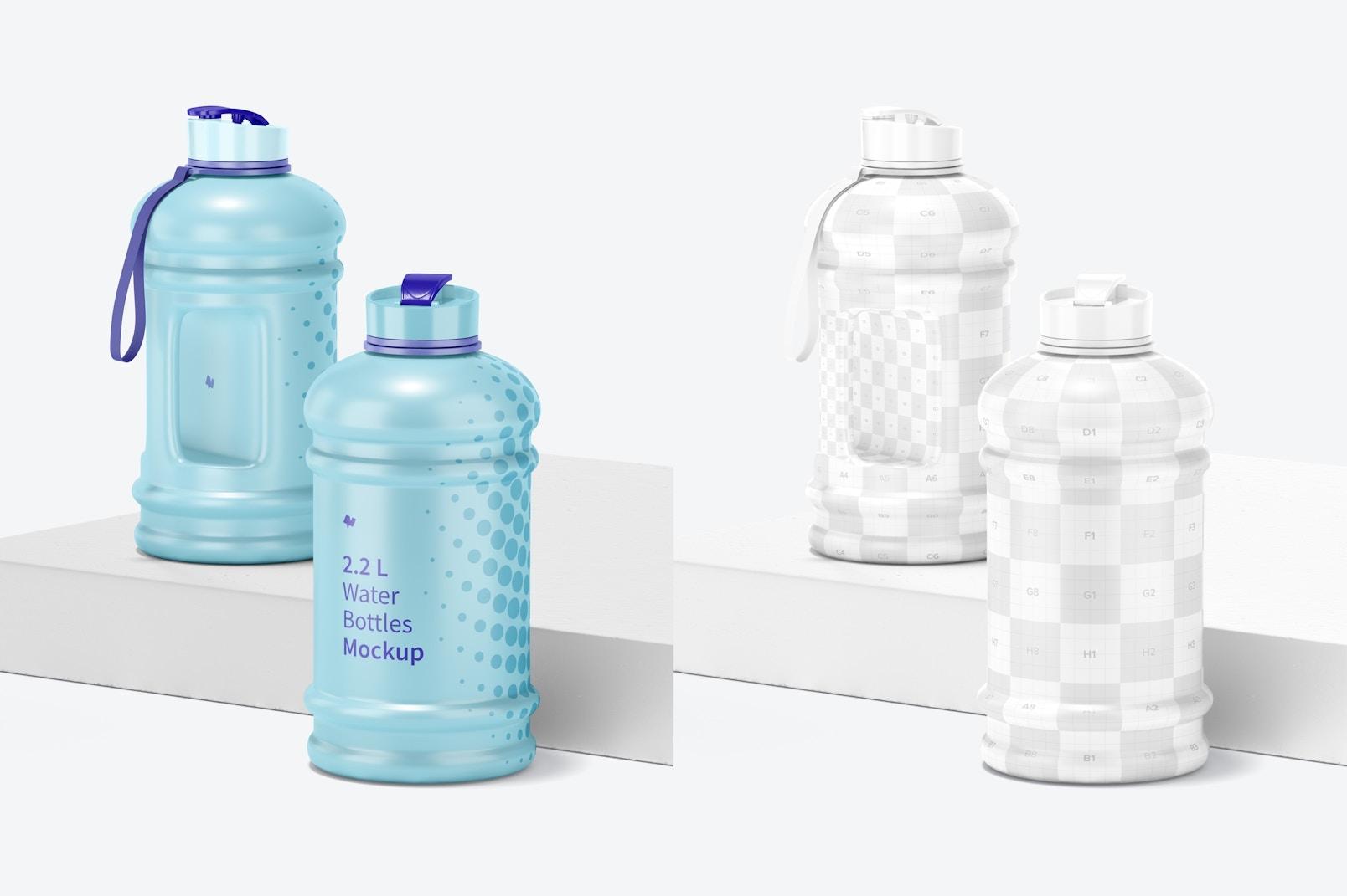 Maqueta de Botellas de Agua de 2.2 L, Perspectiva