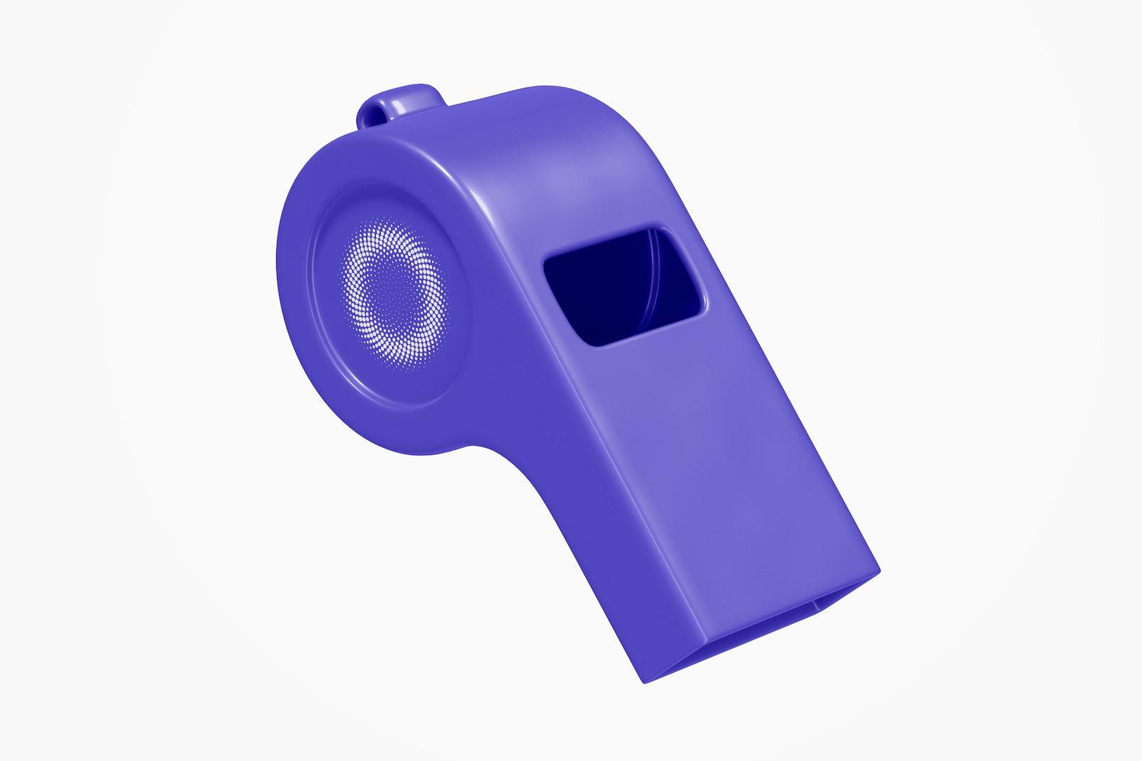 Plastic Whistle Mockup, Floating