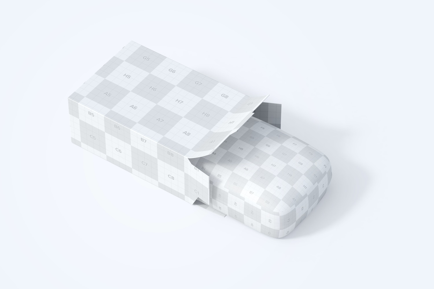 Soap Bar and Paper Box Mockup, Top Side View