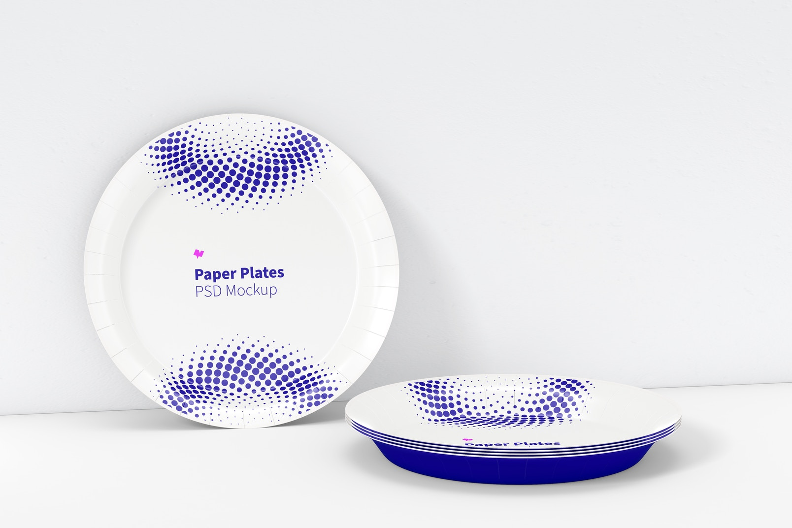 Paper Plates Mockup