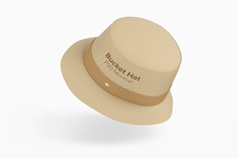Bucket Hat Mockup, Floating