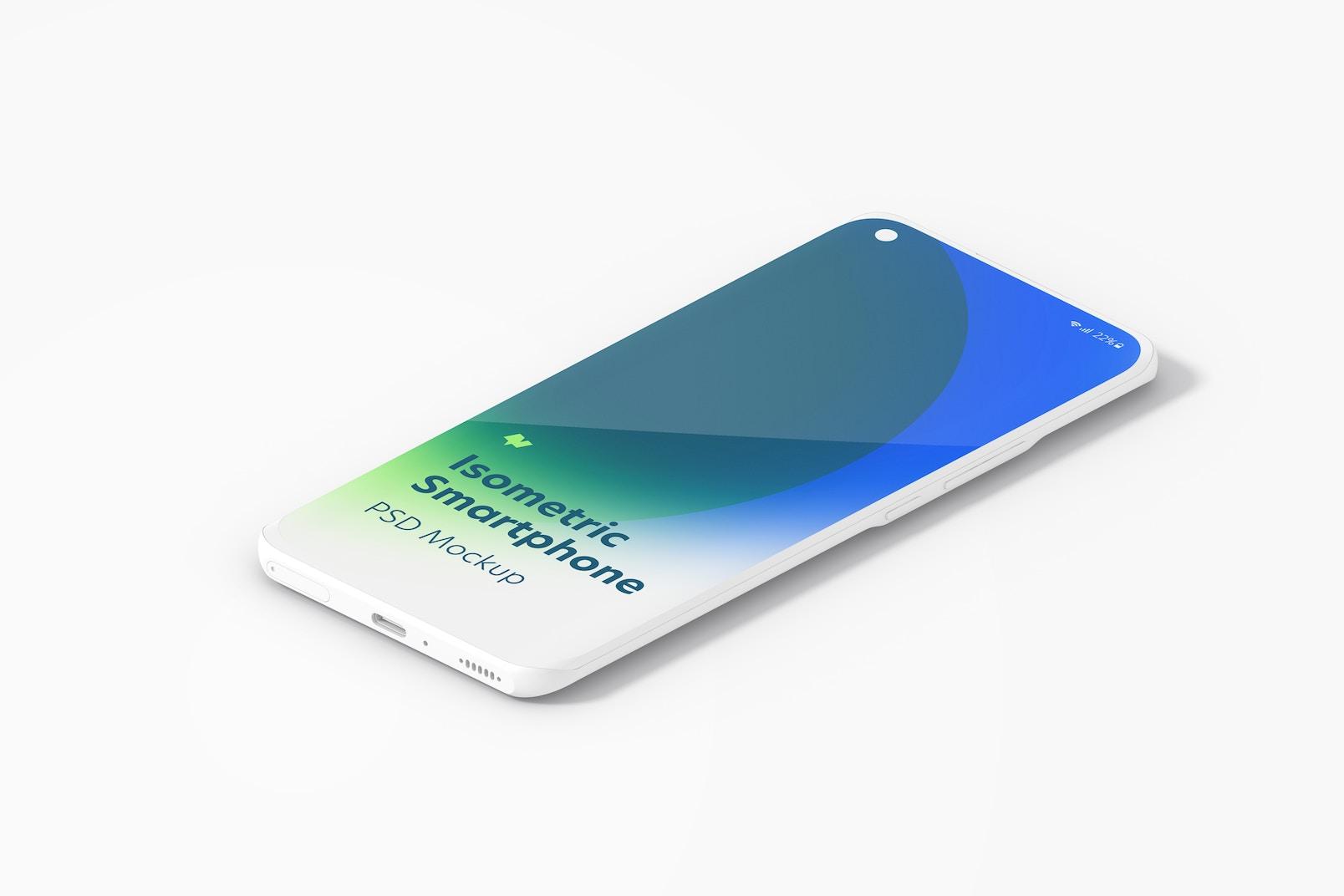 Maqueta de Xiaomi Mi 11 Isométrico Multicolor, Vista Izquierda