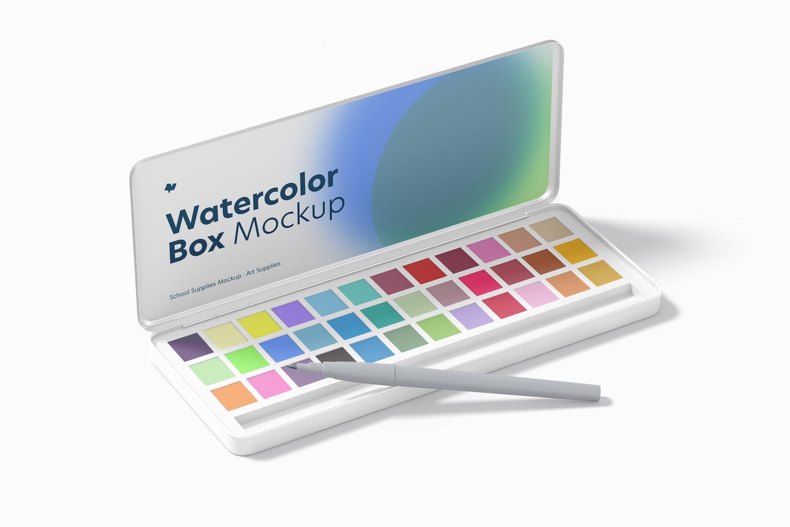 Watercolor Box Mockup