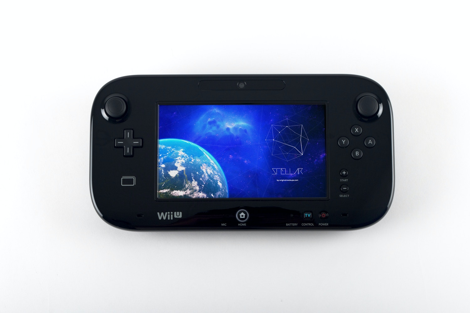 Wii U Deluxe Gamepad Mockup 03 by Original Mockups on Original Mockups