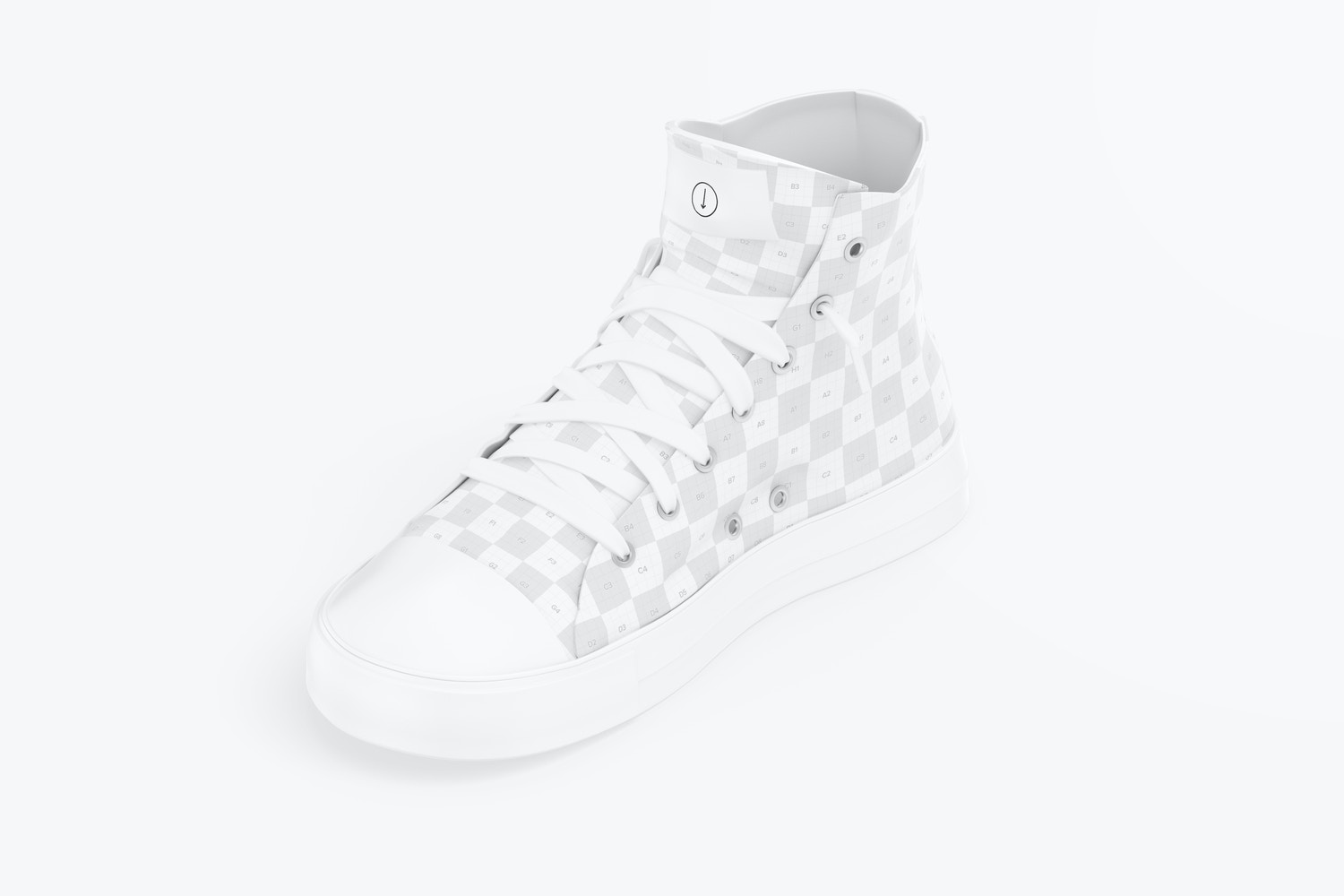 Sneaker Mockup, Isometric Right View