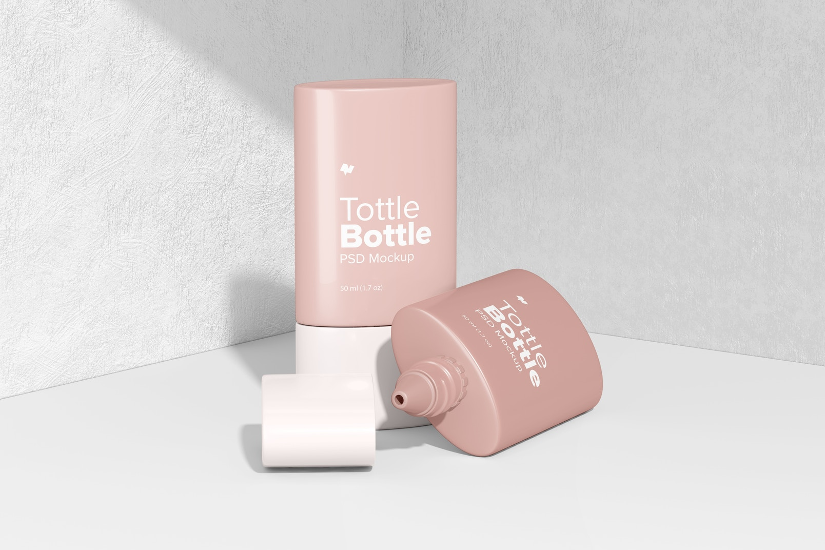 Tottle Bottles Mockup, Opened and Closed