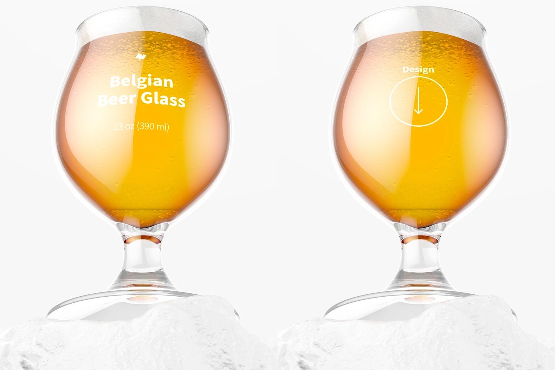 13 oz Belgian Beer Glass Mockup