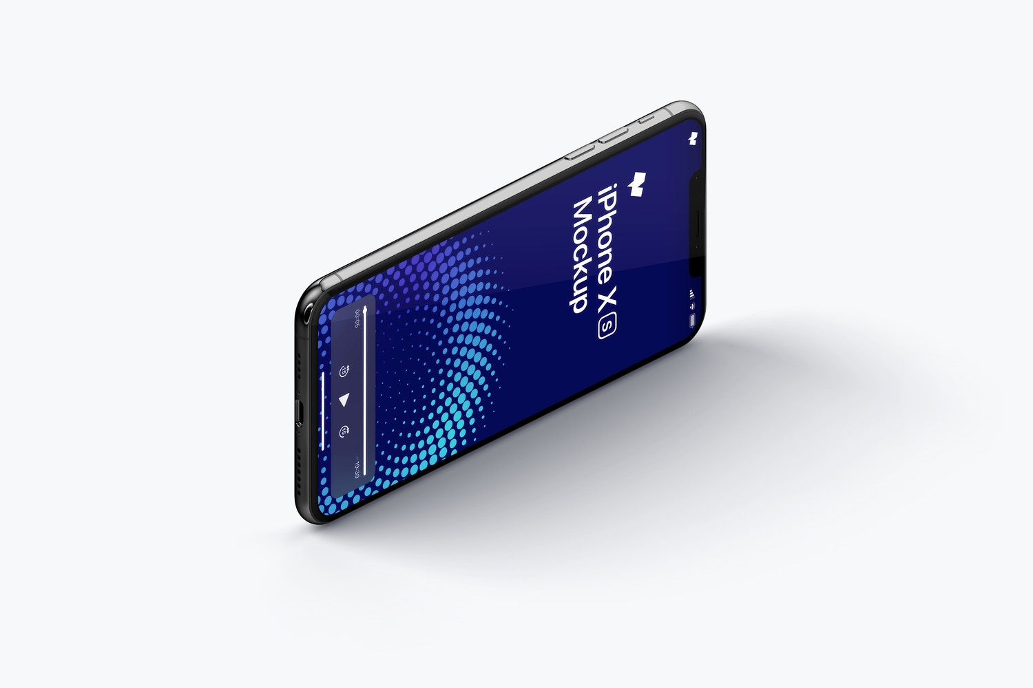 iPhone XS Max Mockup, Isometric Right View 03 (1) by Original Mockups on Original Mockups