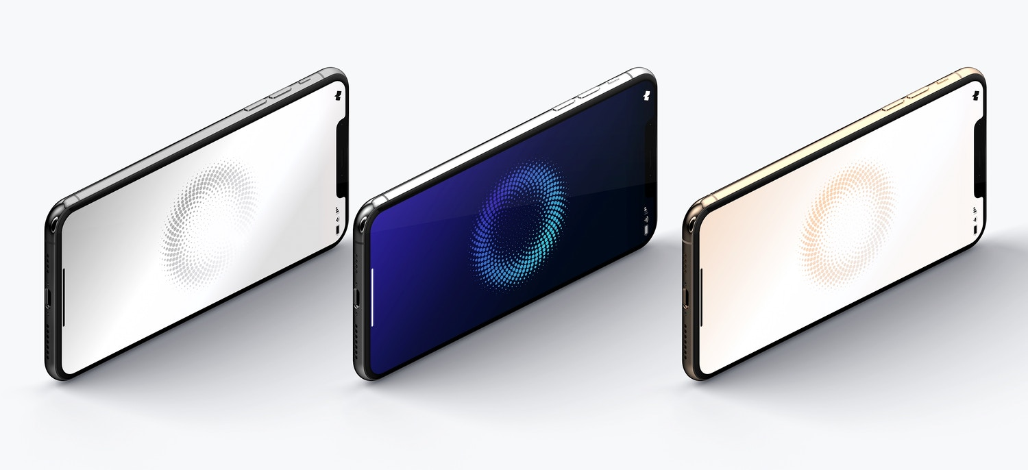 iPhone XS Max Mockup, Isometric Right View 03 (4) by Original Mockups on Original Mockups