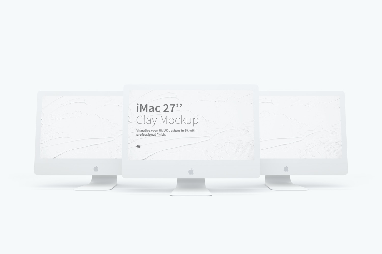 "Clay iMac 27"" Mockup 02 by Original Mockups on Original Mockups"