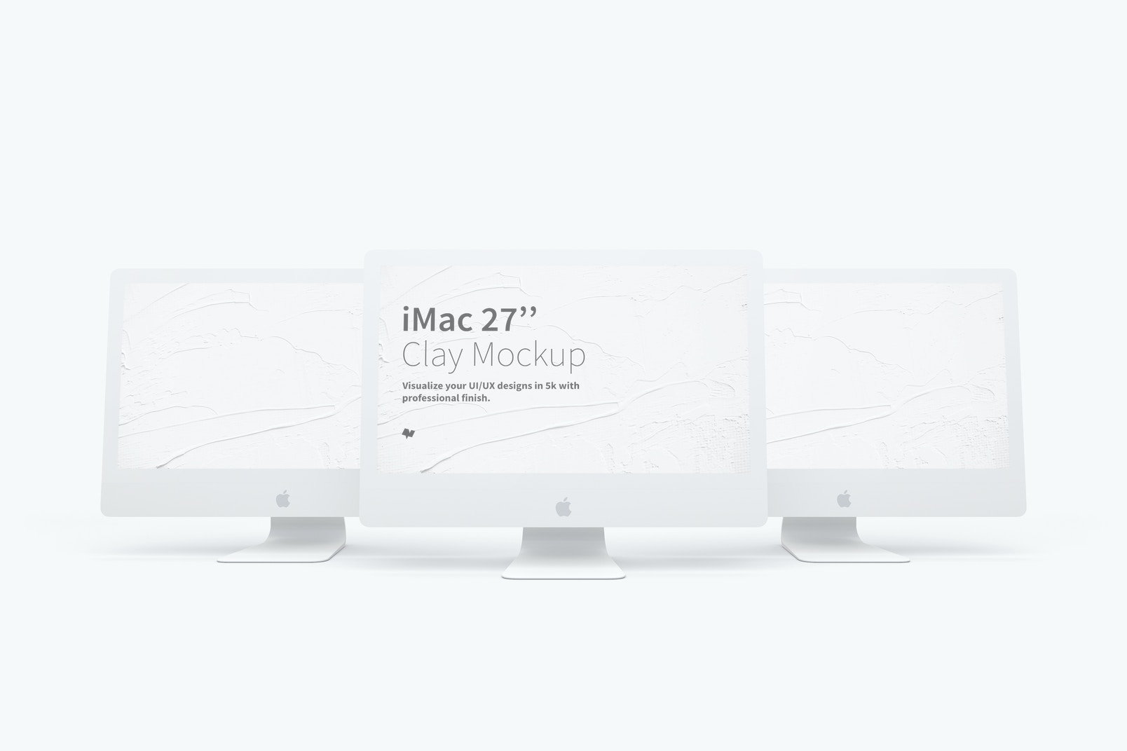 "Clay iMac 27"" Mockup 02"