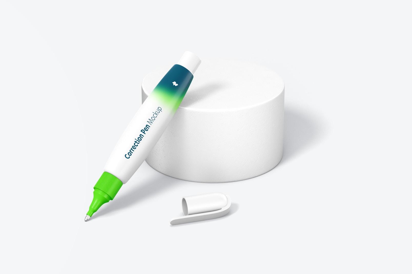 Correction Pen Mockup, Opened