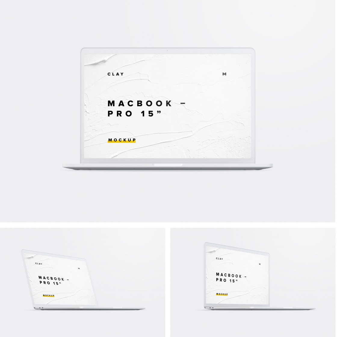 Clay MacBook Pro 15 Mockups by Original Mockups on Original Mockups