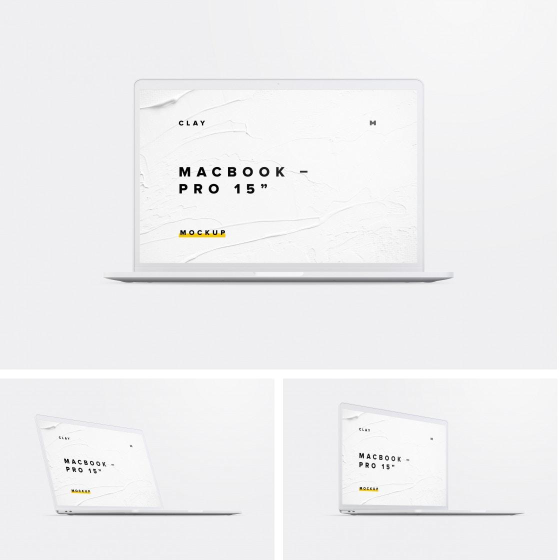 Clay MacBook Pro 15 Mockups Poster