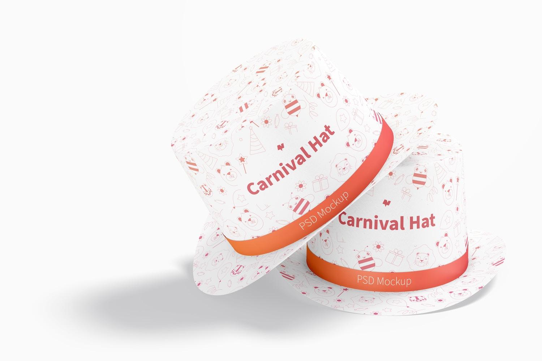 Carnival Hats Mockup, Stacked