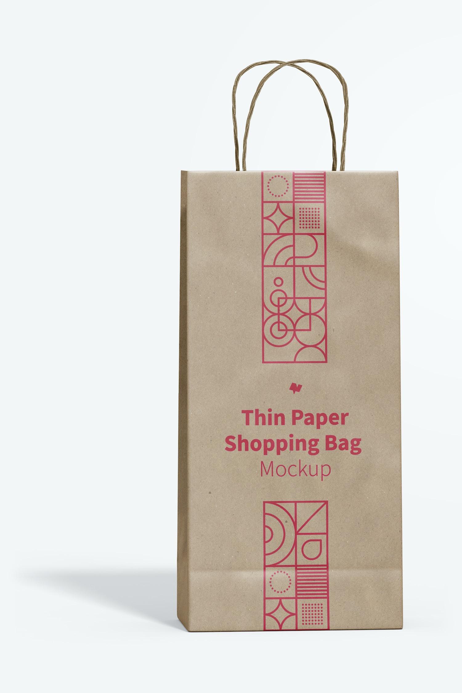 Thin Paper Shopping Bag Mockup