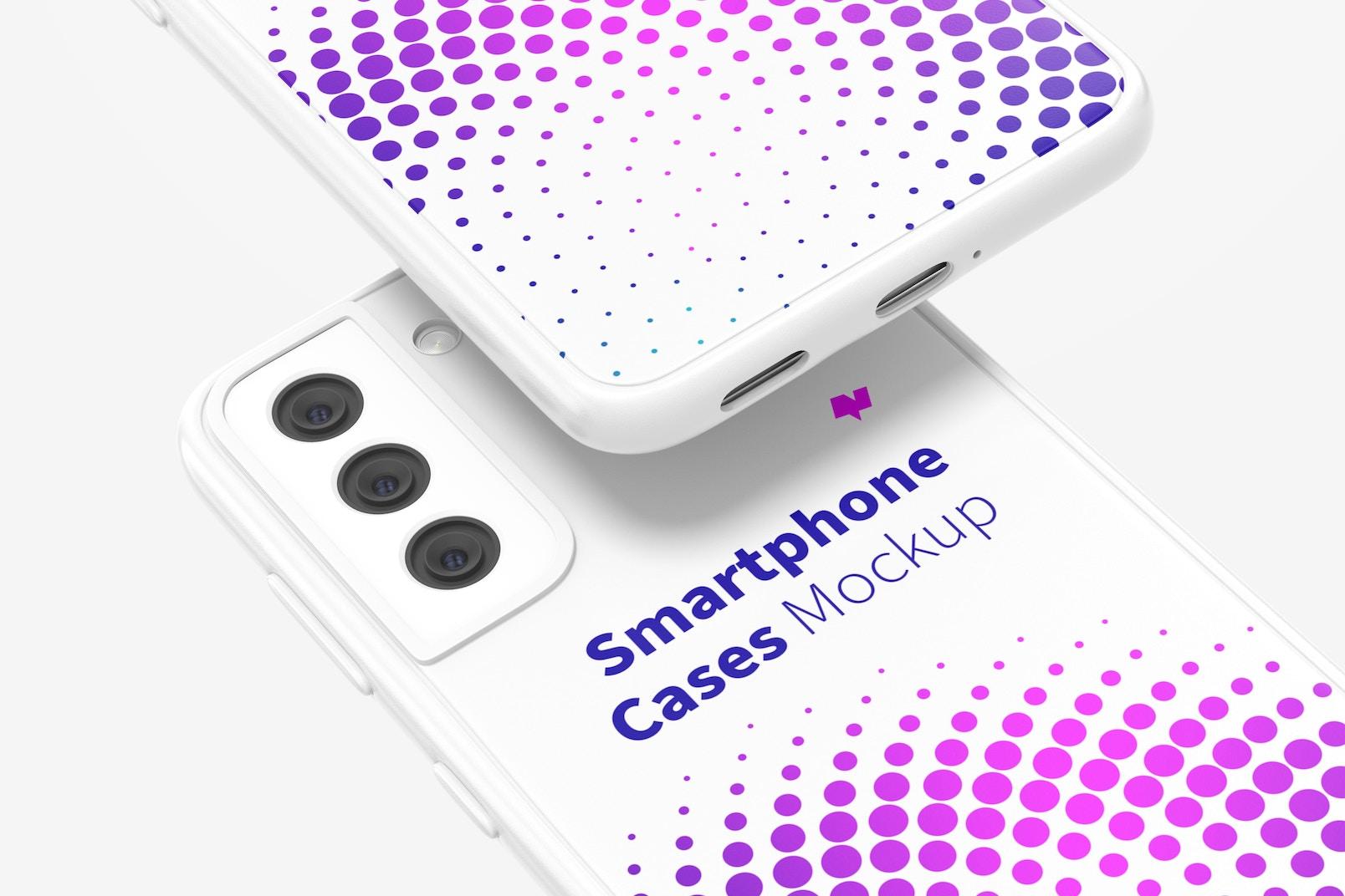 Samsung S21 Case Mockup, Close Up