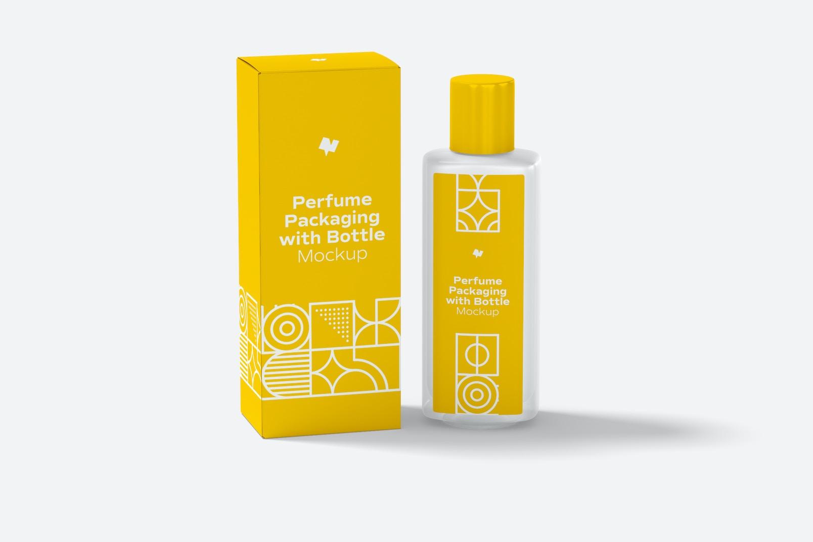 Maqueta de Empaque Grande de Perfume con Botella