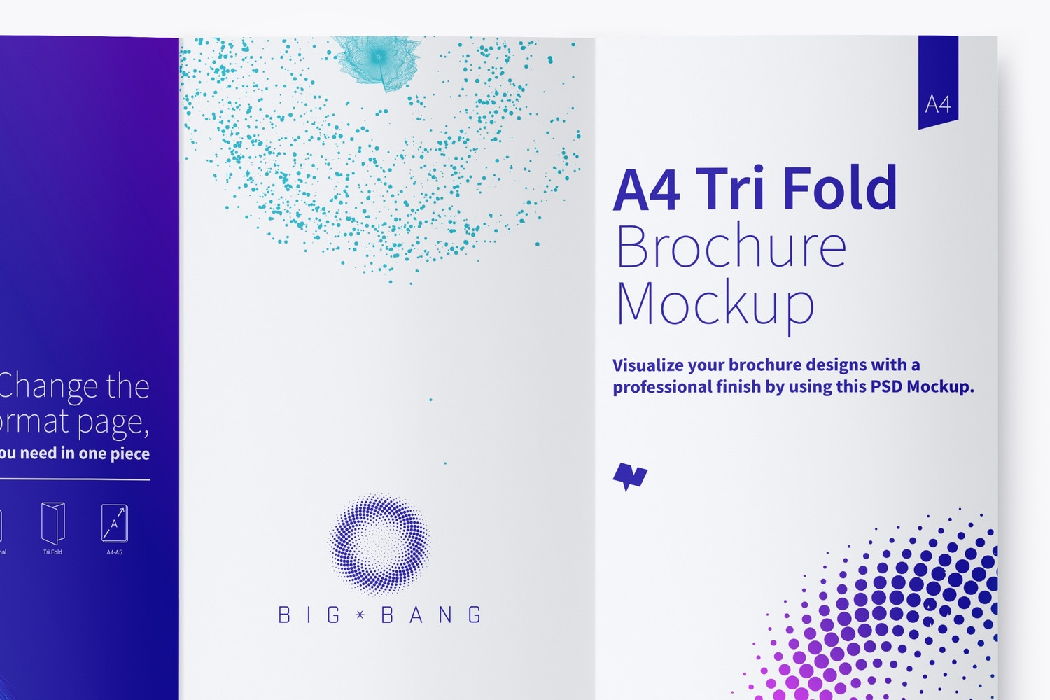 A4 Trifold Brochure Mockup 03 (4) by Original Mockups on Original Mockups