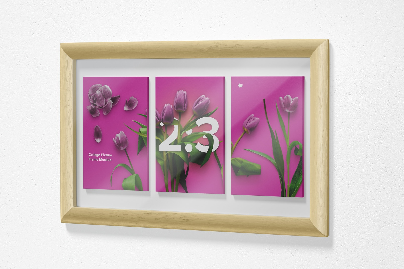 2:3 Collage Picture Frame Mockup, Right View