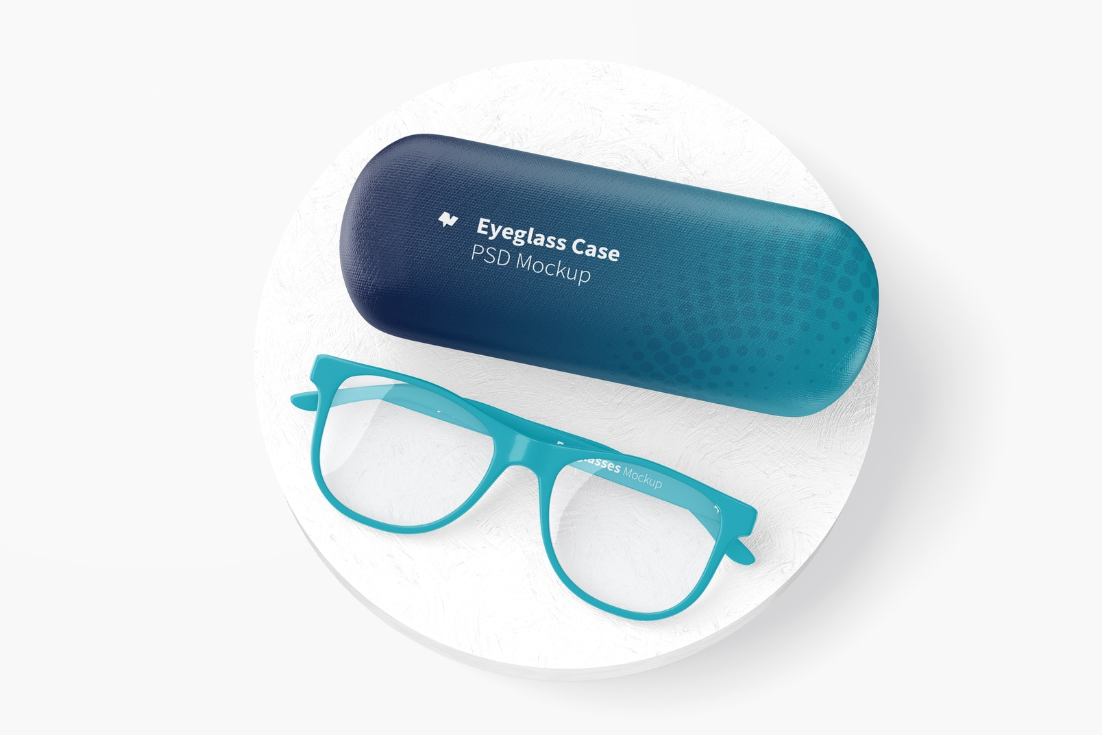 Eyeglass Case Mockup, Top View