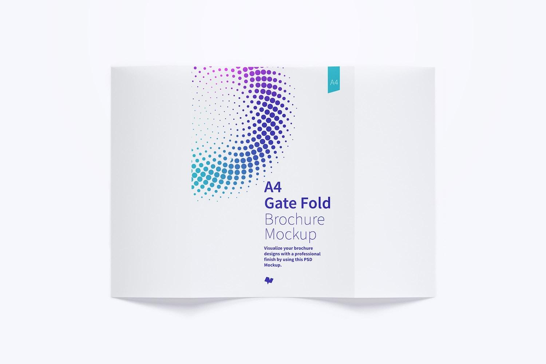 A4 Gate Fold Brochure Mockup 01 (1) by Original Mockups on Original Mockups