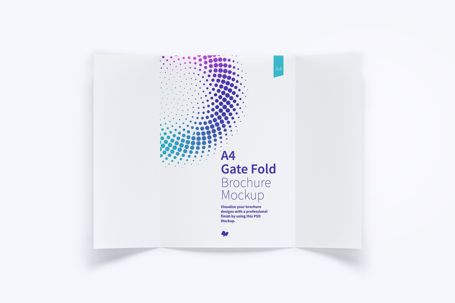 A4 Gate Fold Brochure Mockup 01 by Original Mockups on Original Mockups