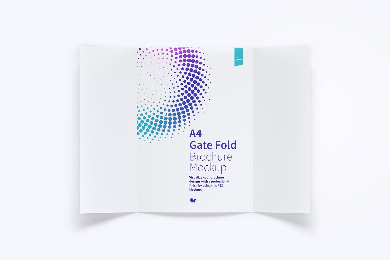 A4 Gate Fold Brochure Mockup 01