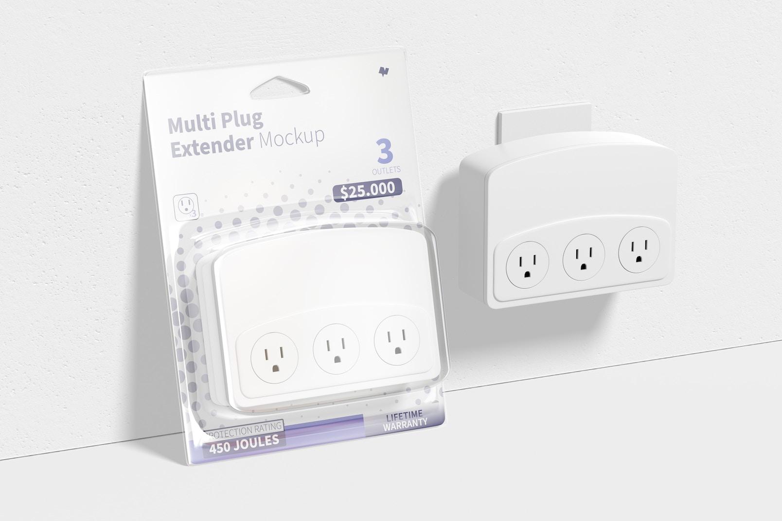 Multi Plug Extender Mockup, Leaned
