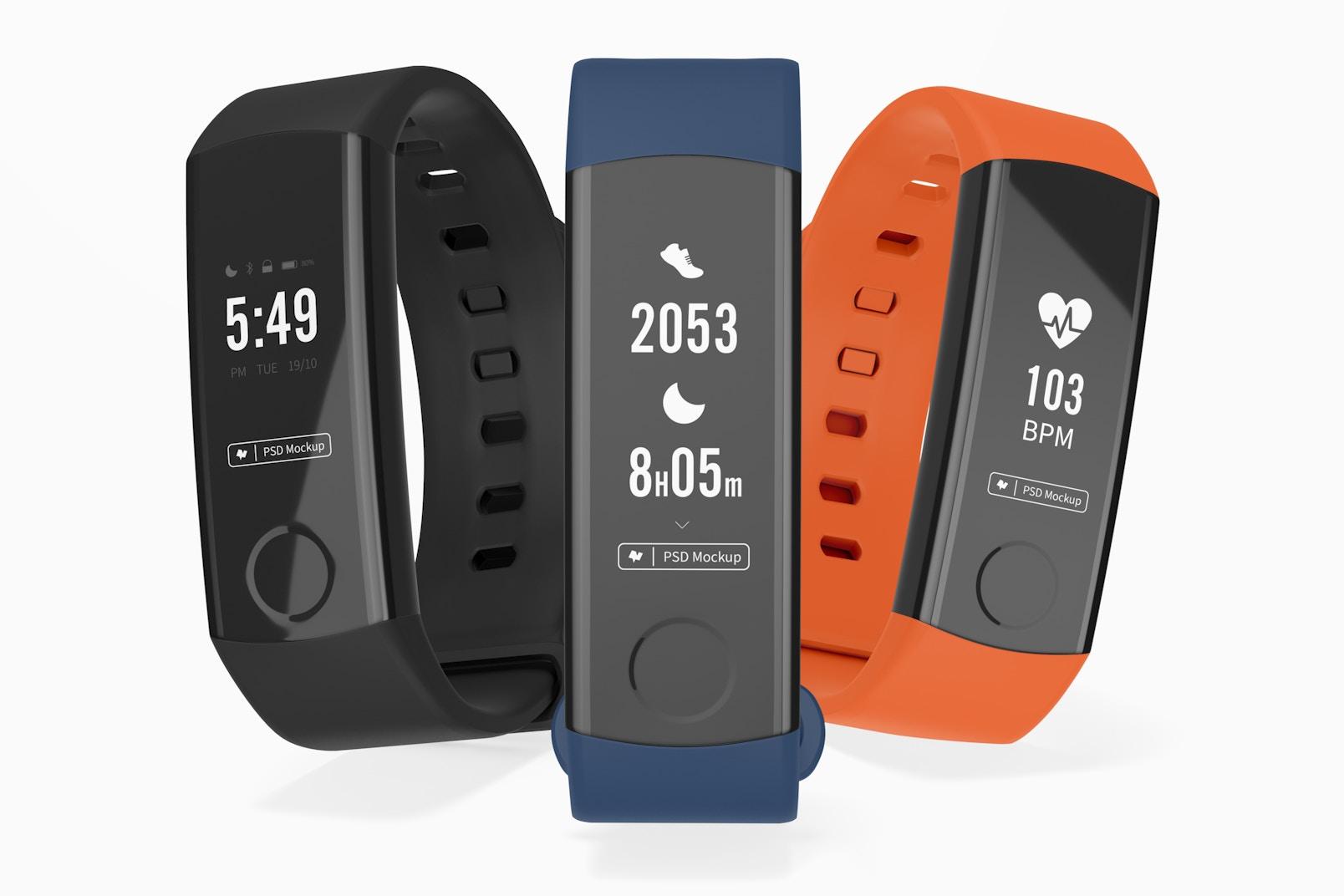 Huawei Fit Honor Band 3 Smart Watch Mockup