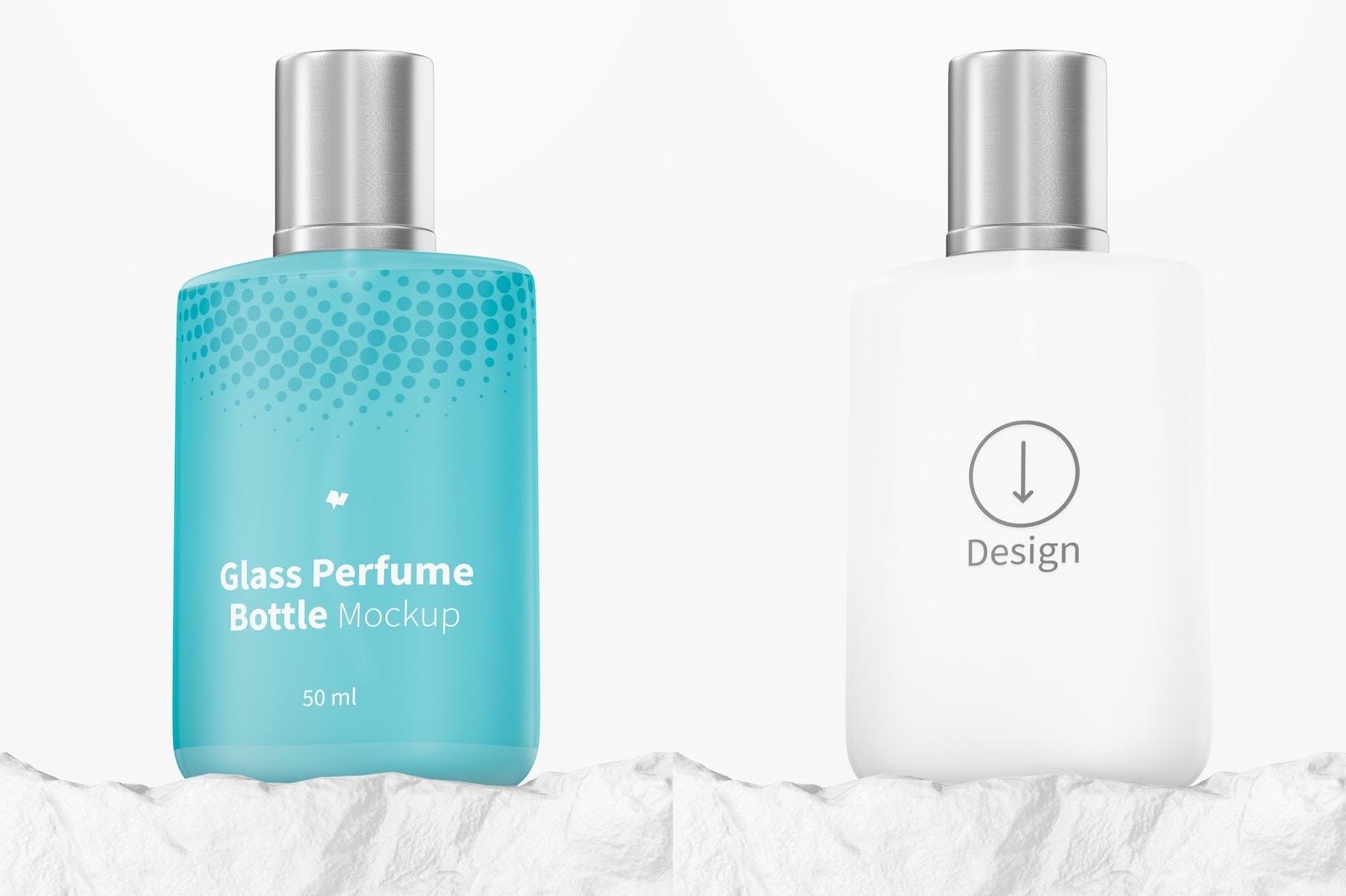 50 ml Glass Perfume Bottle Mockup