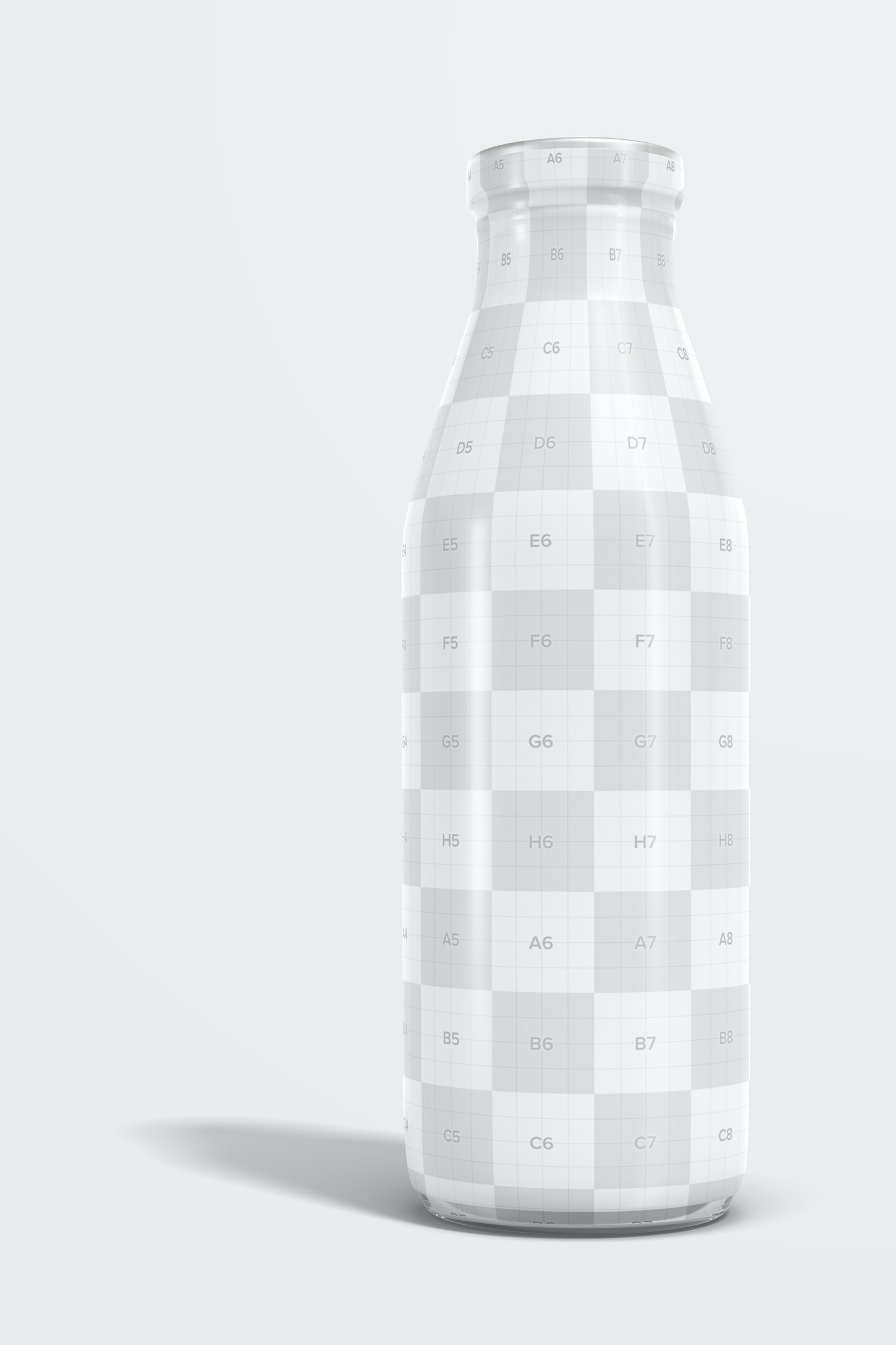The bottle is full-covered in plastic, so you have a lot of space to place your design.