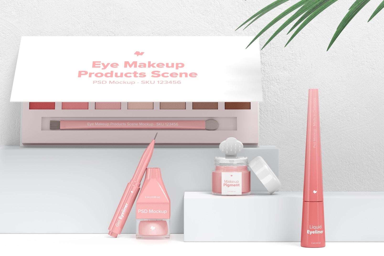 Eye Makeup Products Scene Mockup