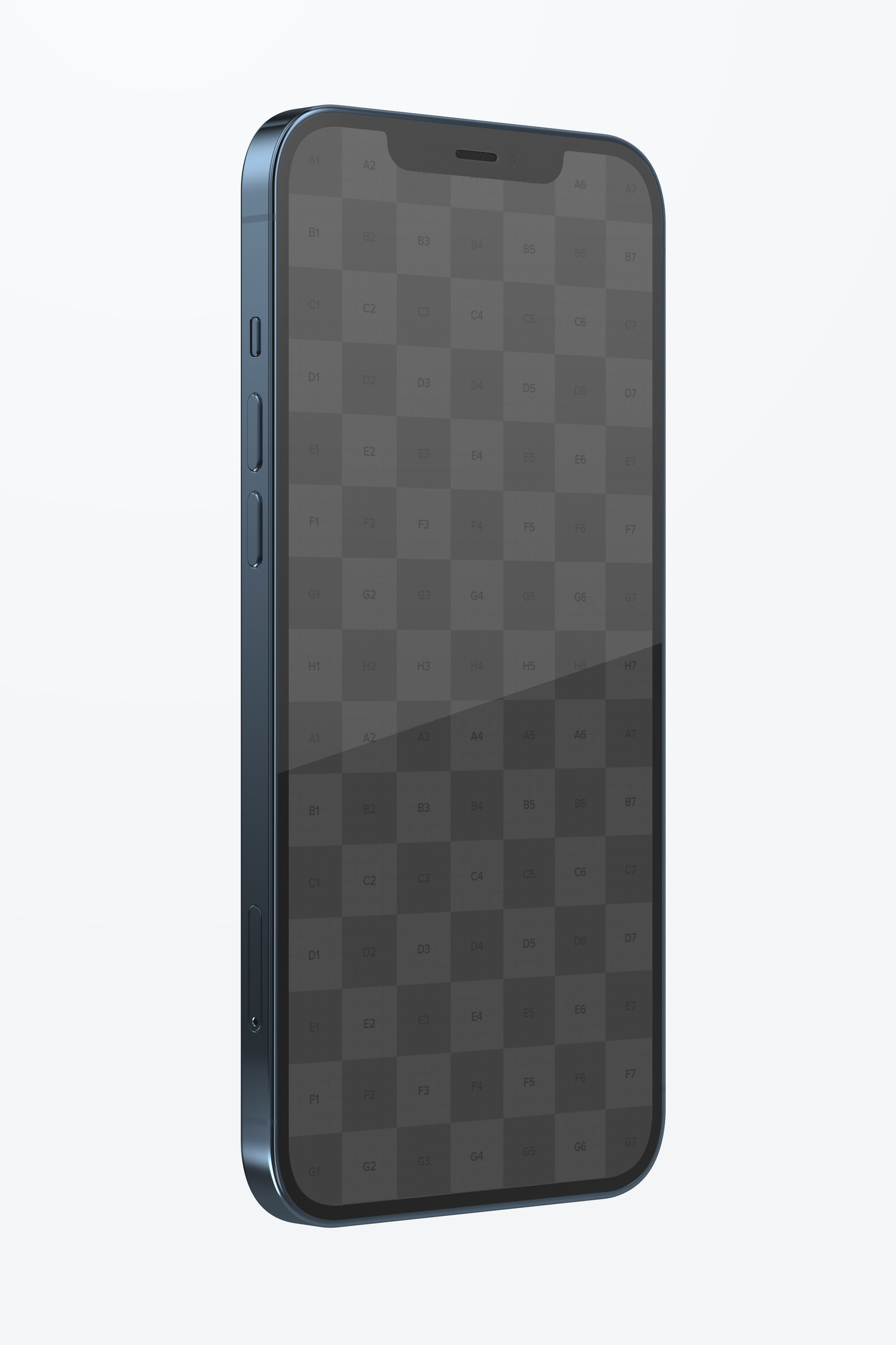 iPhone 12 Mockup, Right Side View