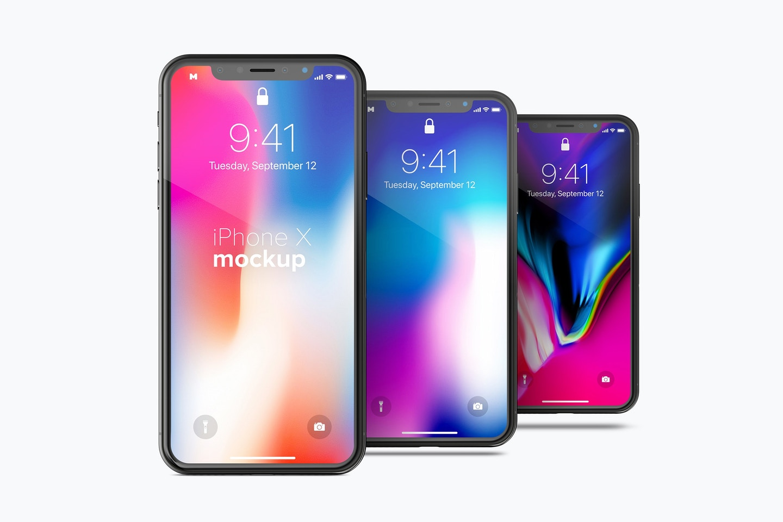 Free iPhone X Mockup 03