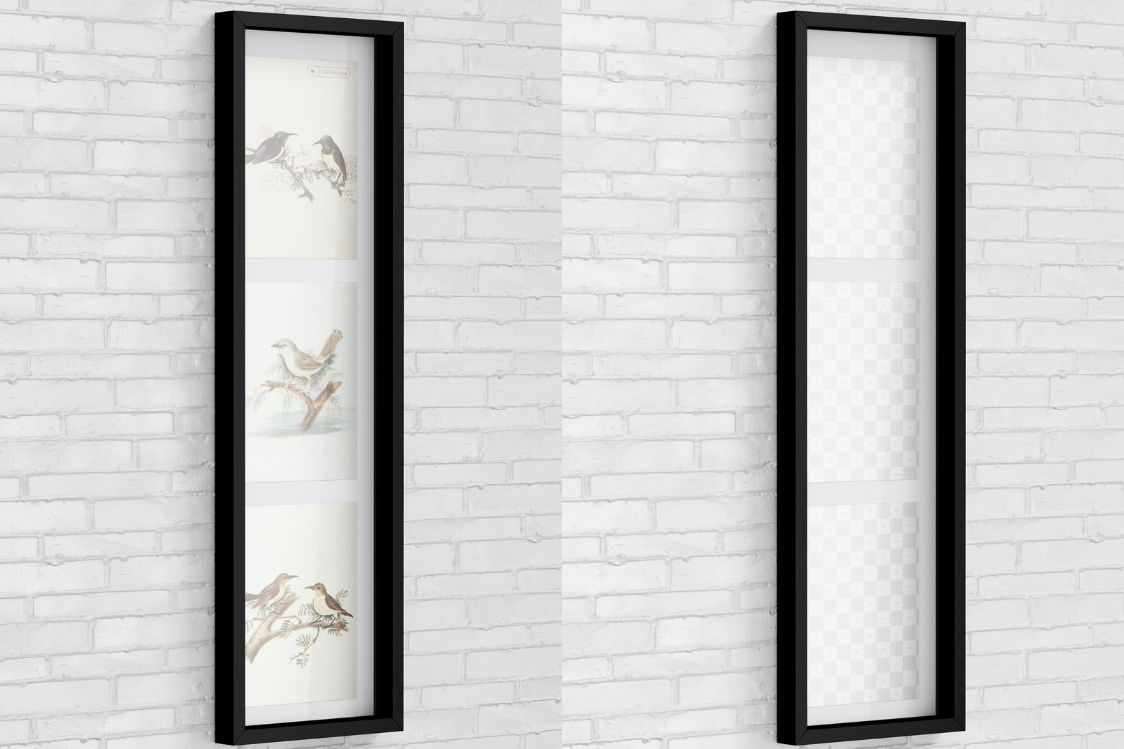 4:3 Multiple Photo Frame Mockup, Vertical