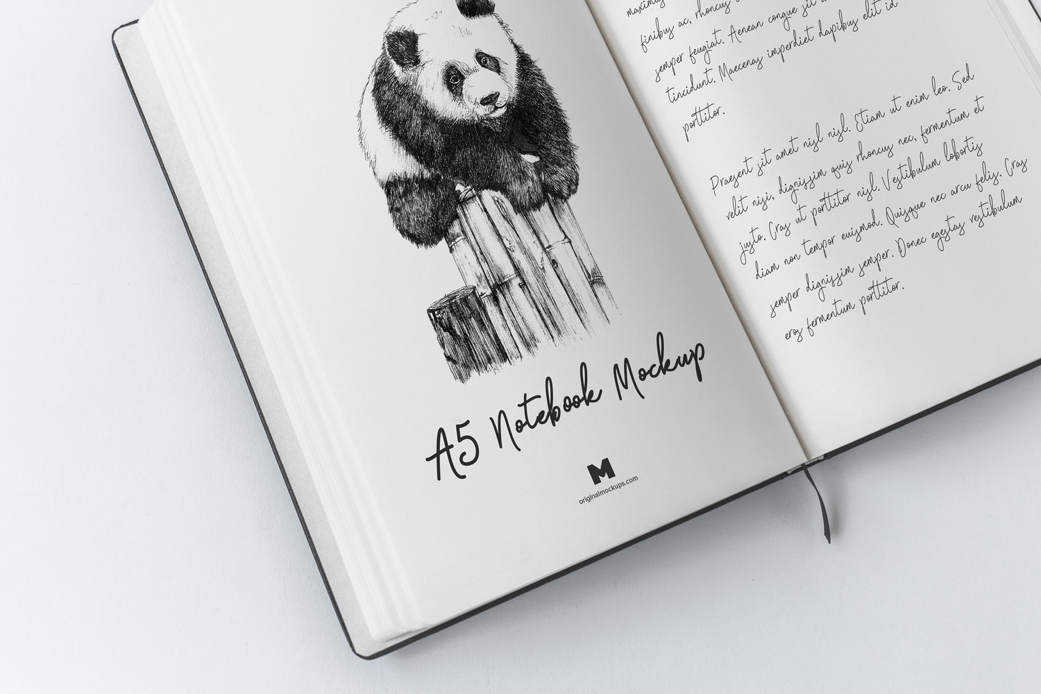 A5 Hardcover Notebook Mockup 02 by Original Mockups on Original Mockups