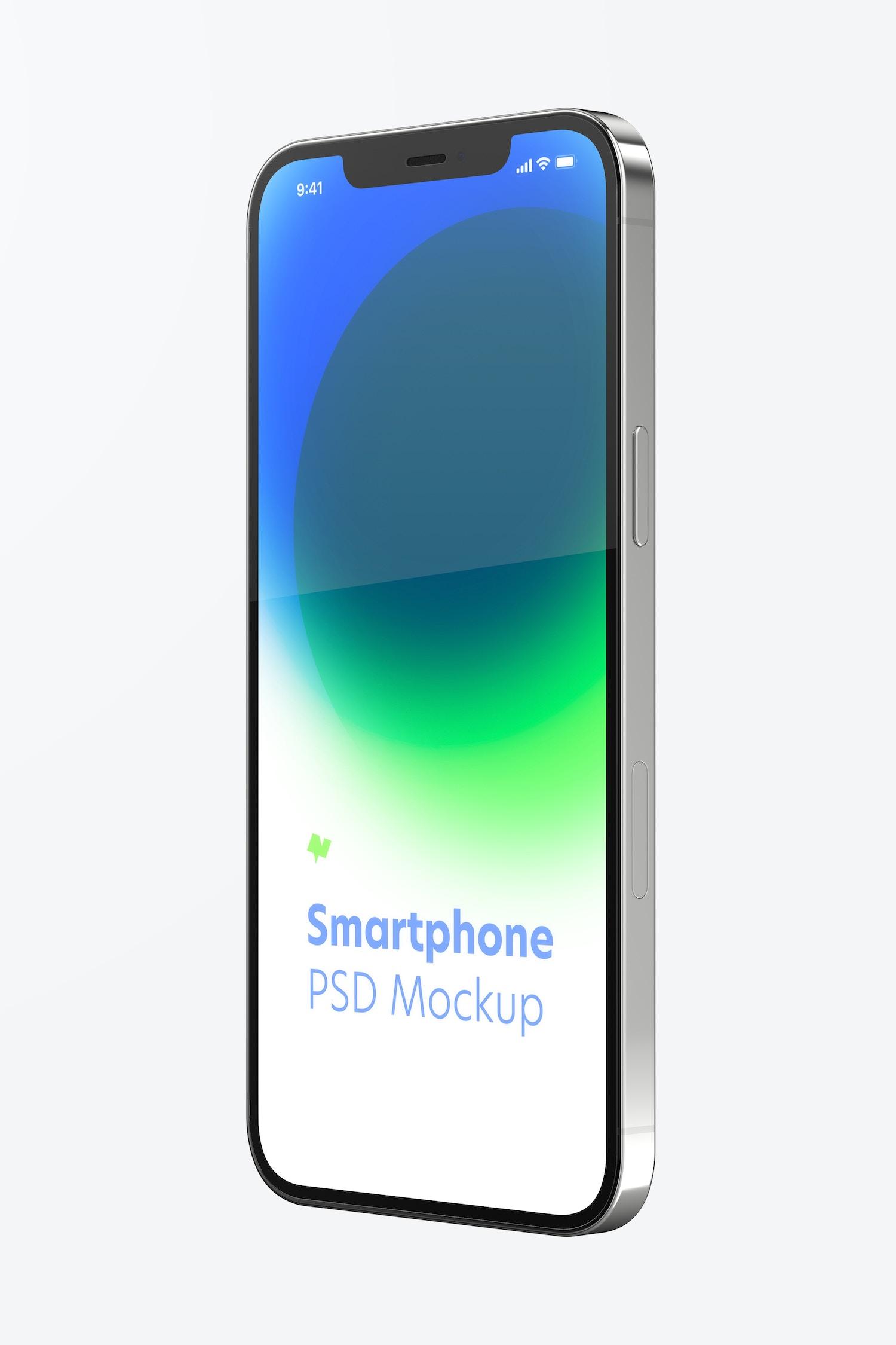 Maqueta de iPhone 12, Vista de Lado Izquierdo
