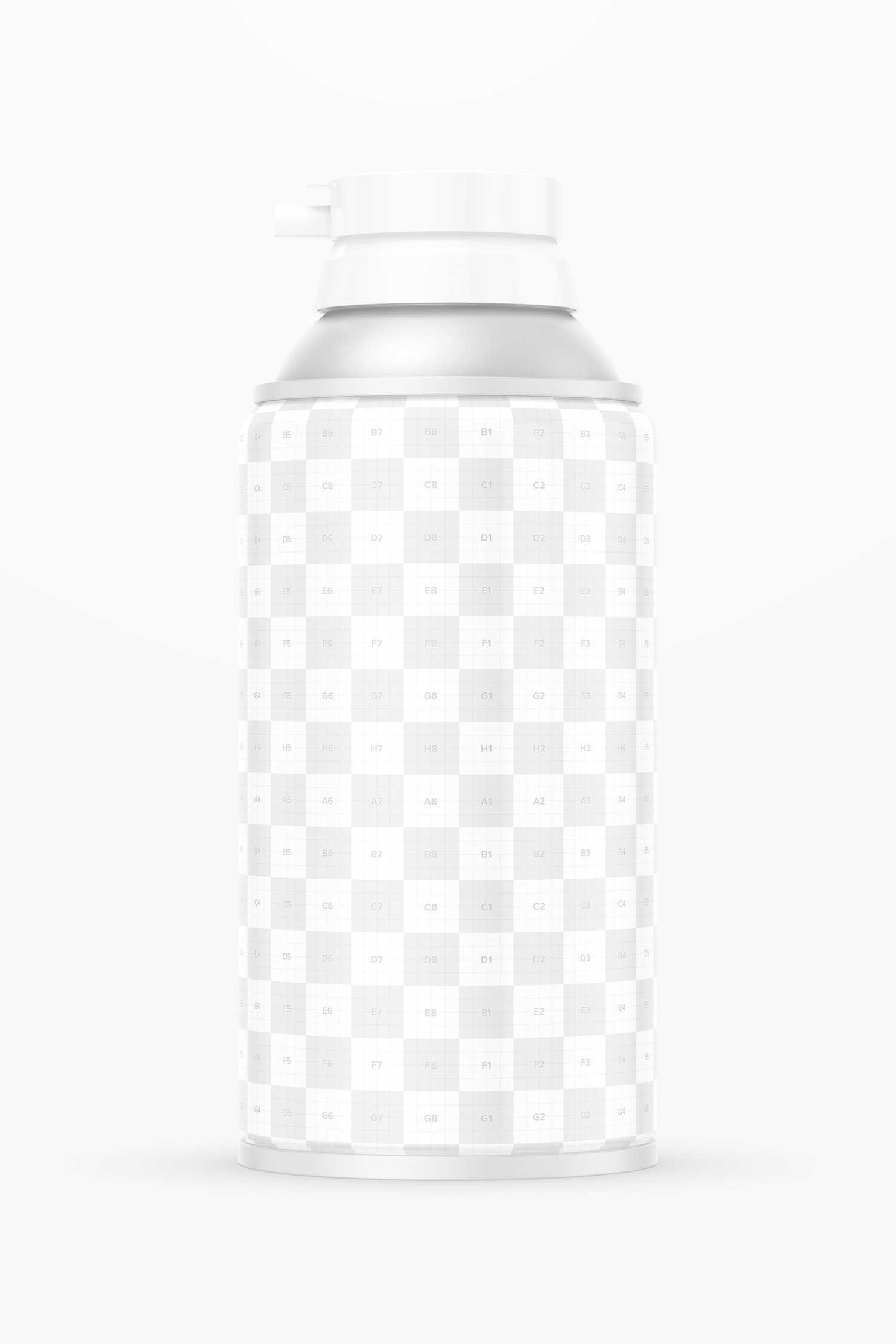 10.5 oz Foam Can Mockup, Front View