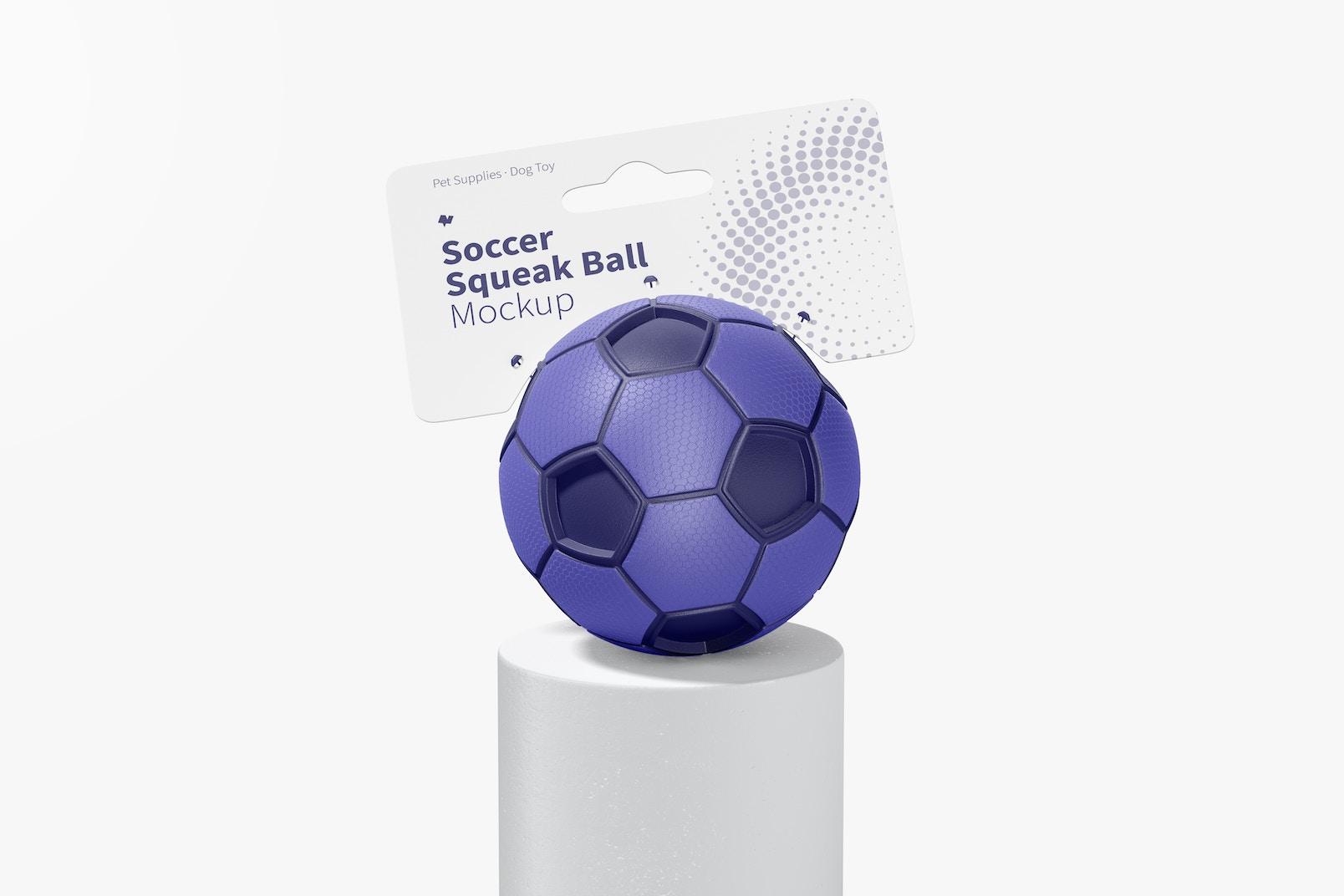 Soccer Squeak Ball Mockup