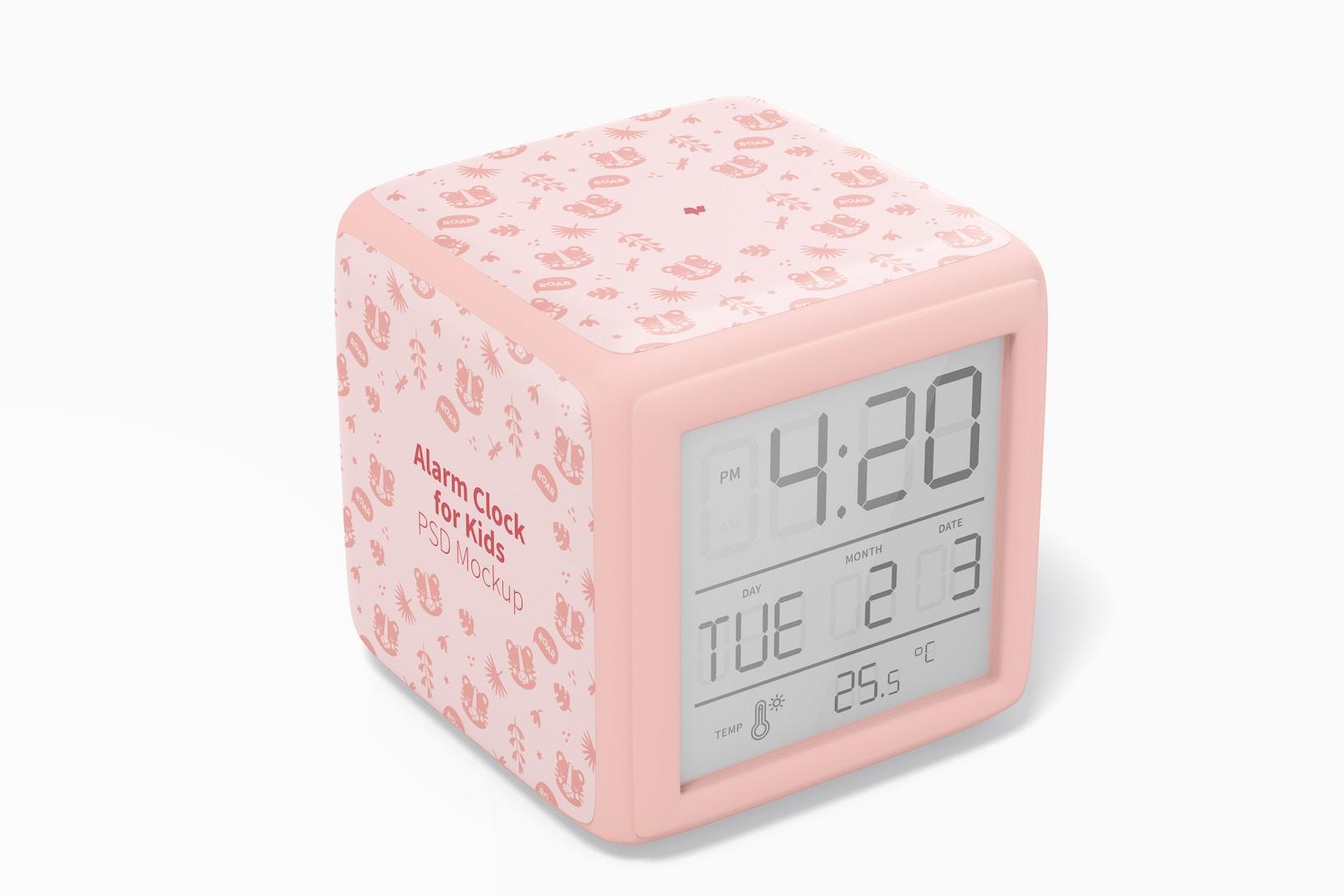 Alarm Clock for Kids Mockup