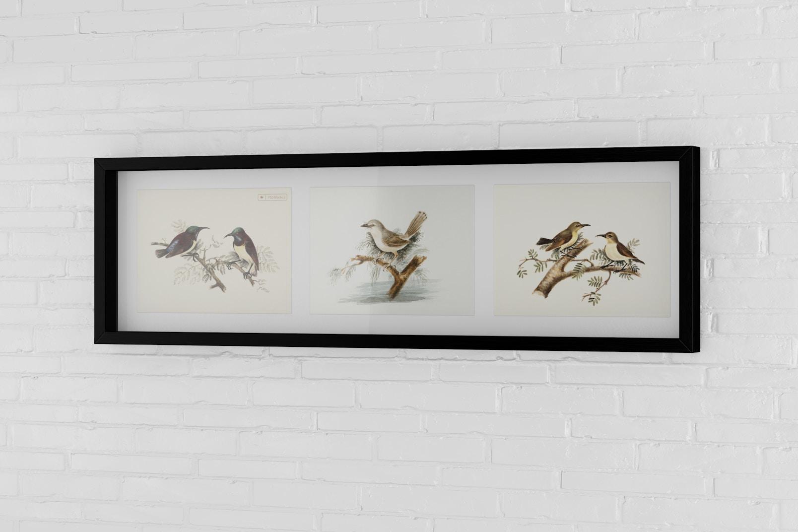 4:3 Multiple Photo Frame Mockup, Horizontal